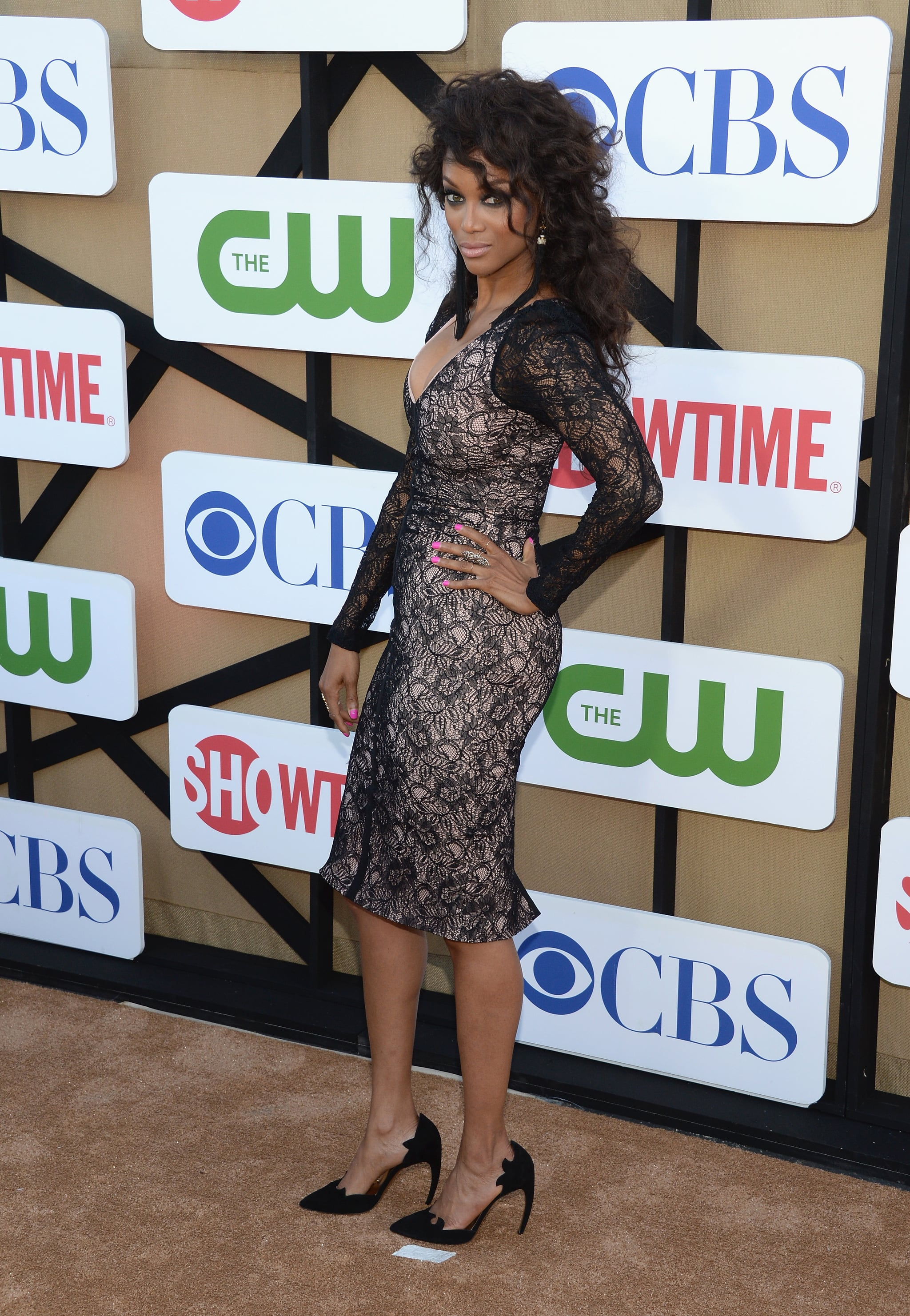 Tyra Banks made an appearance at the Summer TCA Press Tour party.