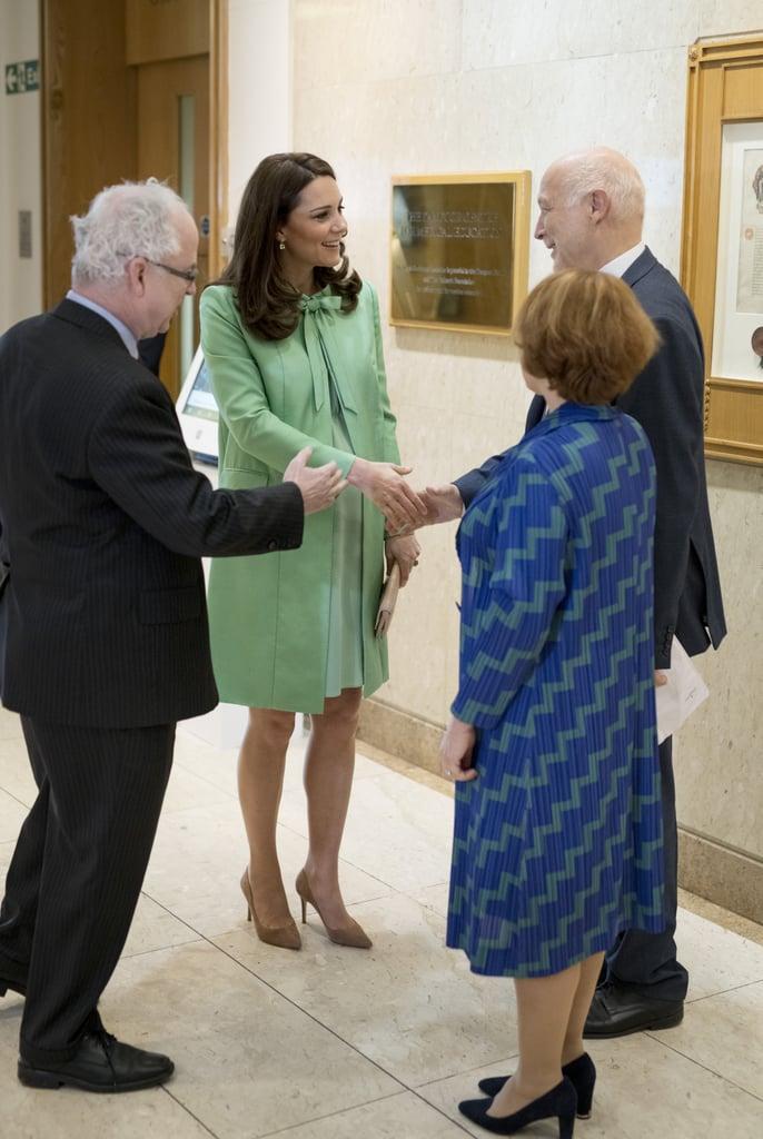 Kate Middleton Green Jenny Packham Coat