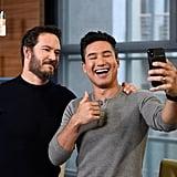 Mark-Paul Gosselaar and Mario Lopez Reunion on Extra 2019