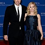 Dax Shepard and Kristen Bell flashed smiles