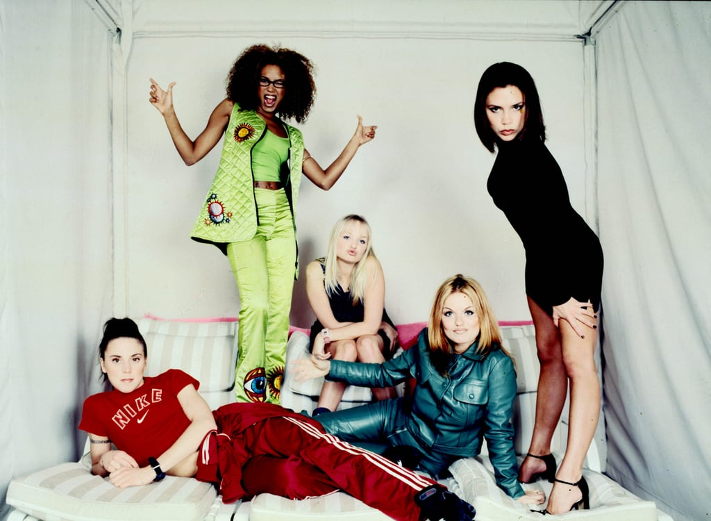 The Spice Girls posed for a group portrait during a studio session in NYC in February 1997.