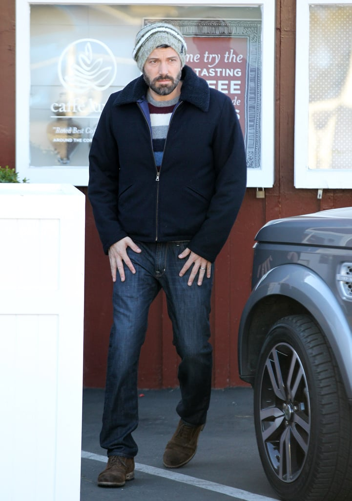 Ben Affleck wore a beanie in Brentwood.