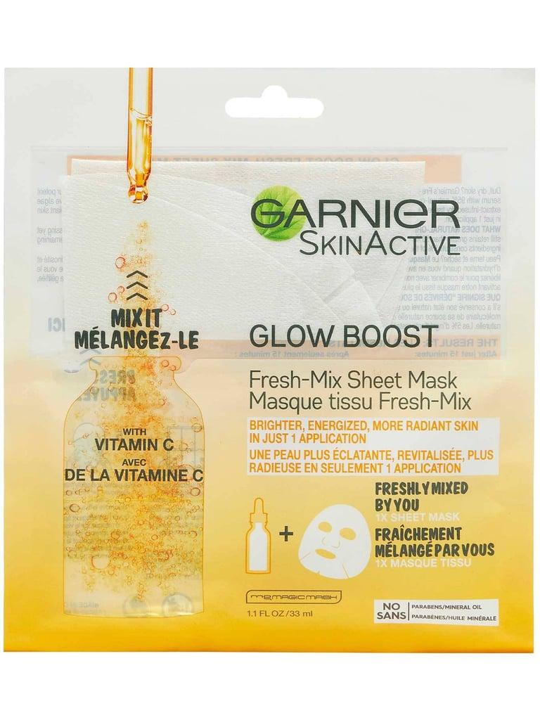 Garnier Glow Boost Fresh-Mix Sheet Mask with Vitamin C