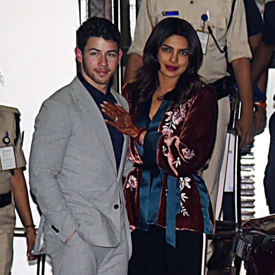 Priyanka Chopra Velvet Jacket With Nick Jonas