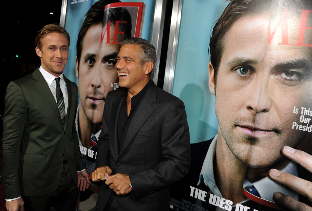 George and Ryan were surrounded by The Ides of March posters.