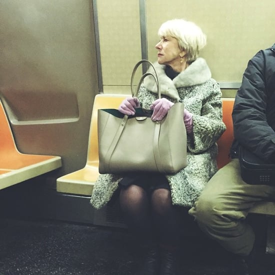 This Picture of Helen Mirren Riding the NYC Subway Has Gone Viral