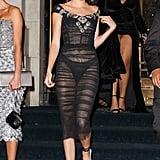 Wearing a Dolce & Gabbana Dress