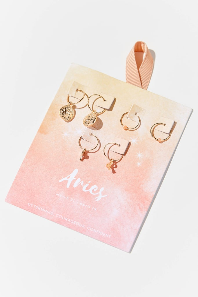 Zodiac Charm Hoop Earring Set