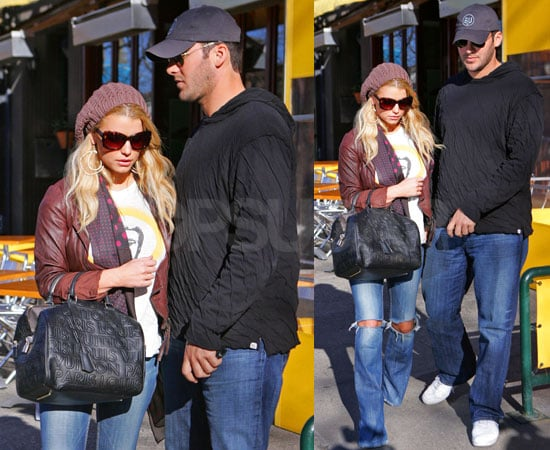 Photos of Jessica Simpson and Tony Romo Leaving Da Silvano in NYC
