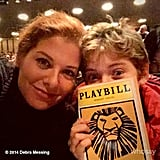 Debra Messing took her son, Roman Zelman, to see The Lion King on Broadway.