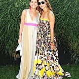 Lisa Perry and Samantha Perry made a colorful combo at Devil's Heaven for the Watermill Center.