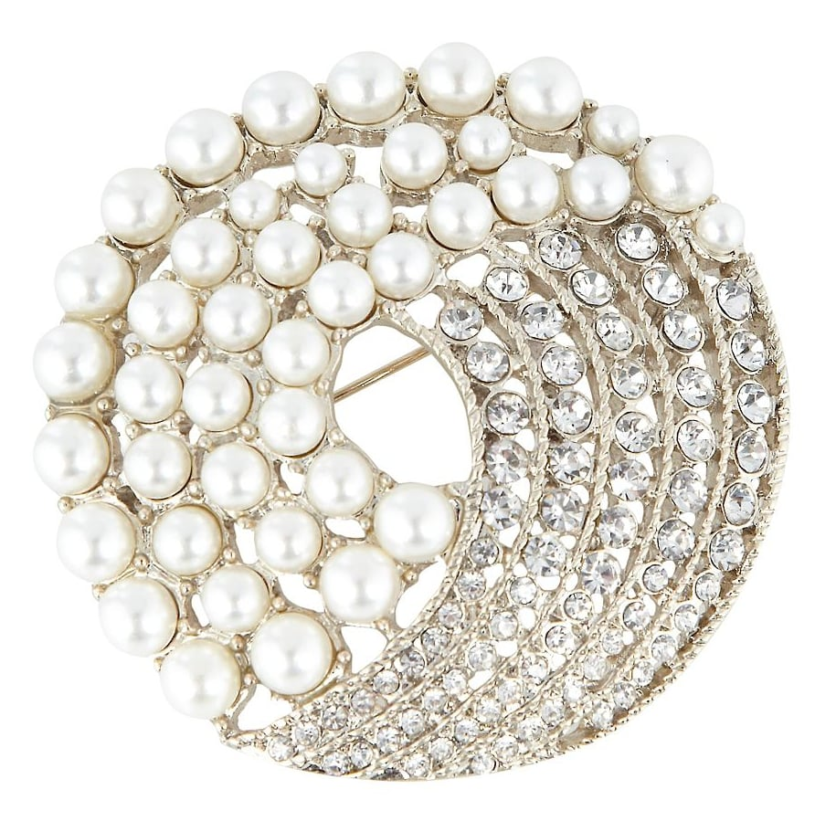 No. 1 by Jenny Packham Gold Pearl and Bead Brooch ($41)