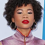 Storm Reid's Pink and Red Pairing