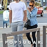 Lauren Conrad and William Tell ran errands in West Hollywood.