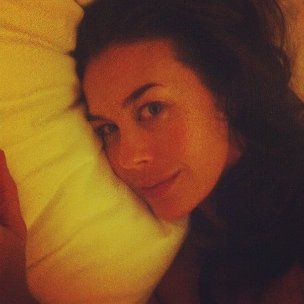 "Megan Gale removed her ""amazing makeup"" before bed after two glamorous nights at the Cannes Film Festival. Source: Twitter user MeganKGale"