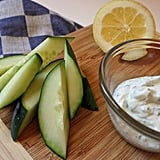Cucumbers With Ranch Greek Yoghurt Dip