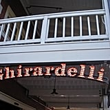 You can warm up with a hot chocolate at Ghirardelli.
