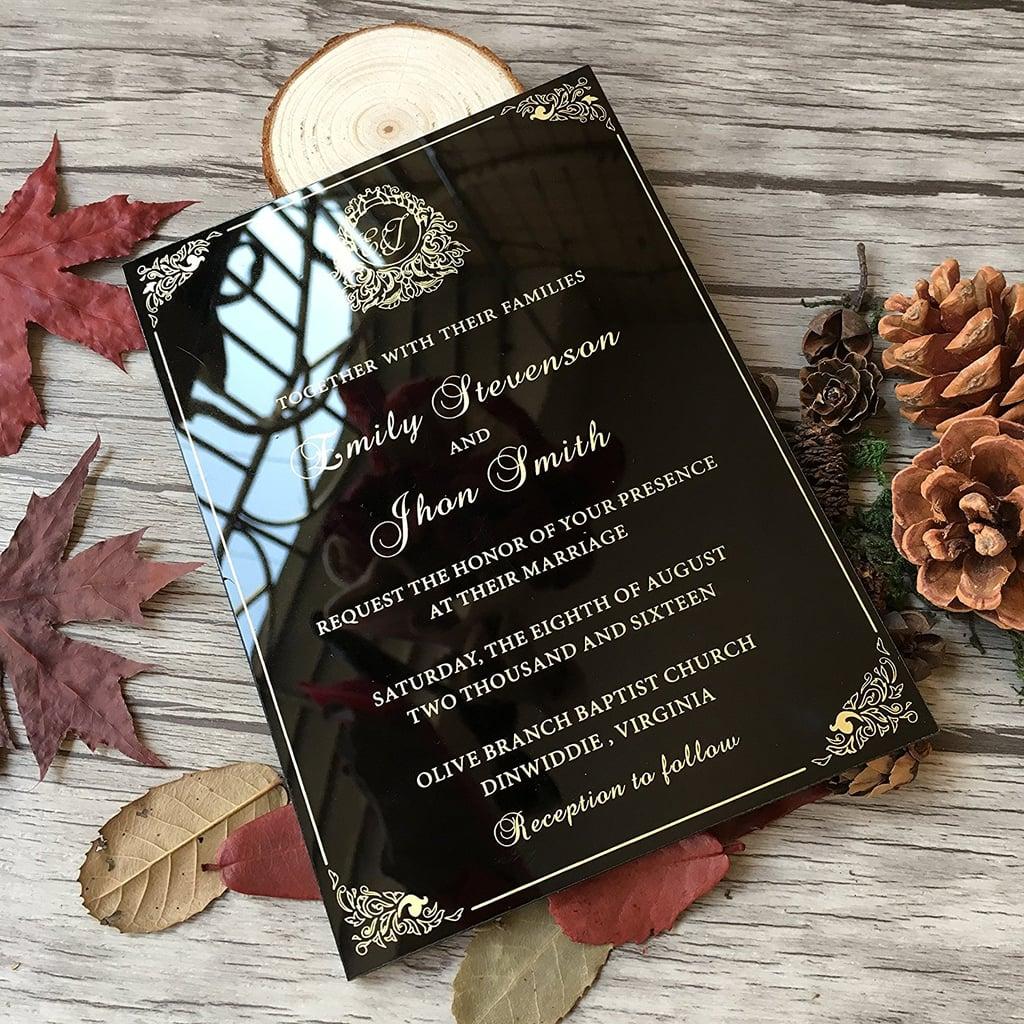 Dark, Romantic Wedding Invitation