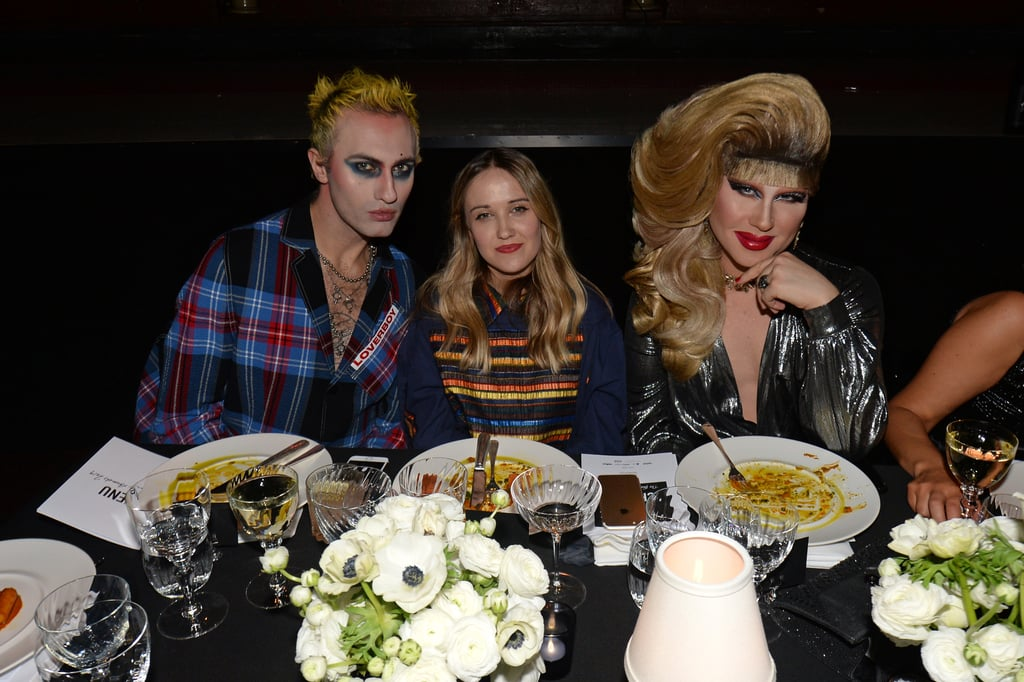 Charles Jeffrey, Bethany Williams, and Jodie Harsh at the British Fashion Awards 2019 in London