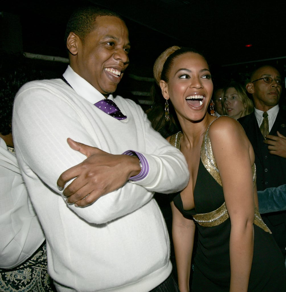 Jay-Z and Beyoncé dressed up for Usher's private Grammy party at LA's Geisha House in February 2005.