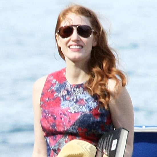 Jessica Chastain and Gian Luca Passi de Preposulo in Ischia