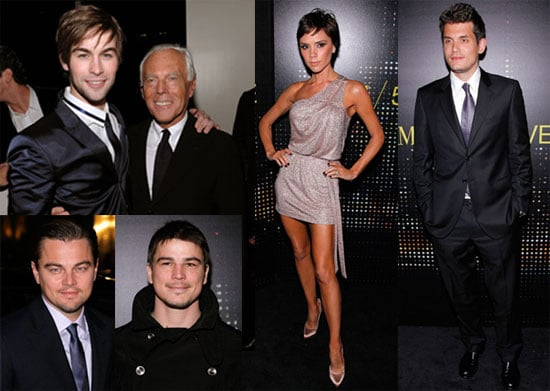 Photos of Victoria Beckham, John Mayer, Chace Crawford, Leonardo DiCaprio, Josh Hartnett at Armani Fifth Ave Opening