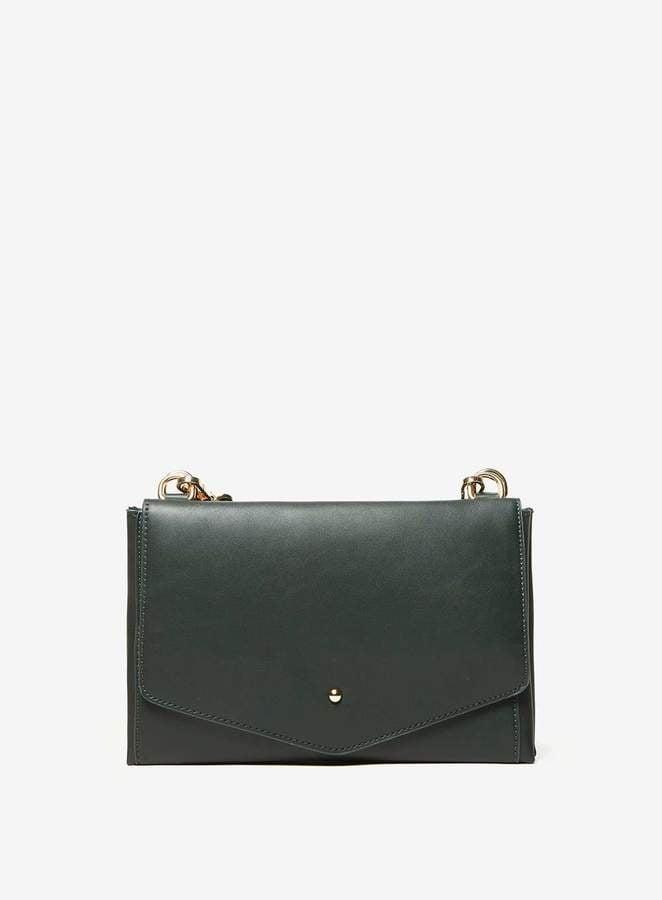 Khaki Double Pouch Cross Body Bag