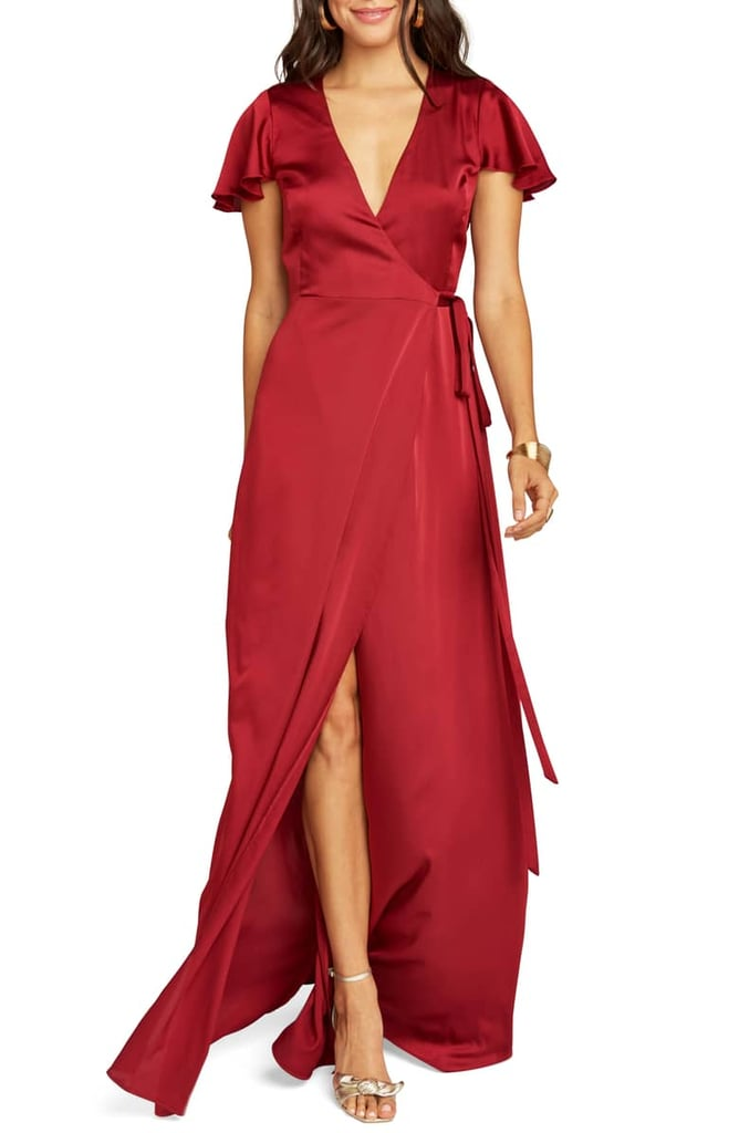 e43ddb0fd8 Show Me Your Mumu Noelle Satin Wrap Evening Dress | Sexy Dresses ...