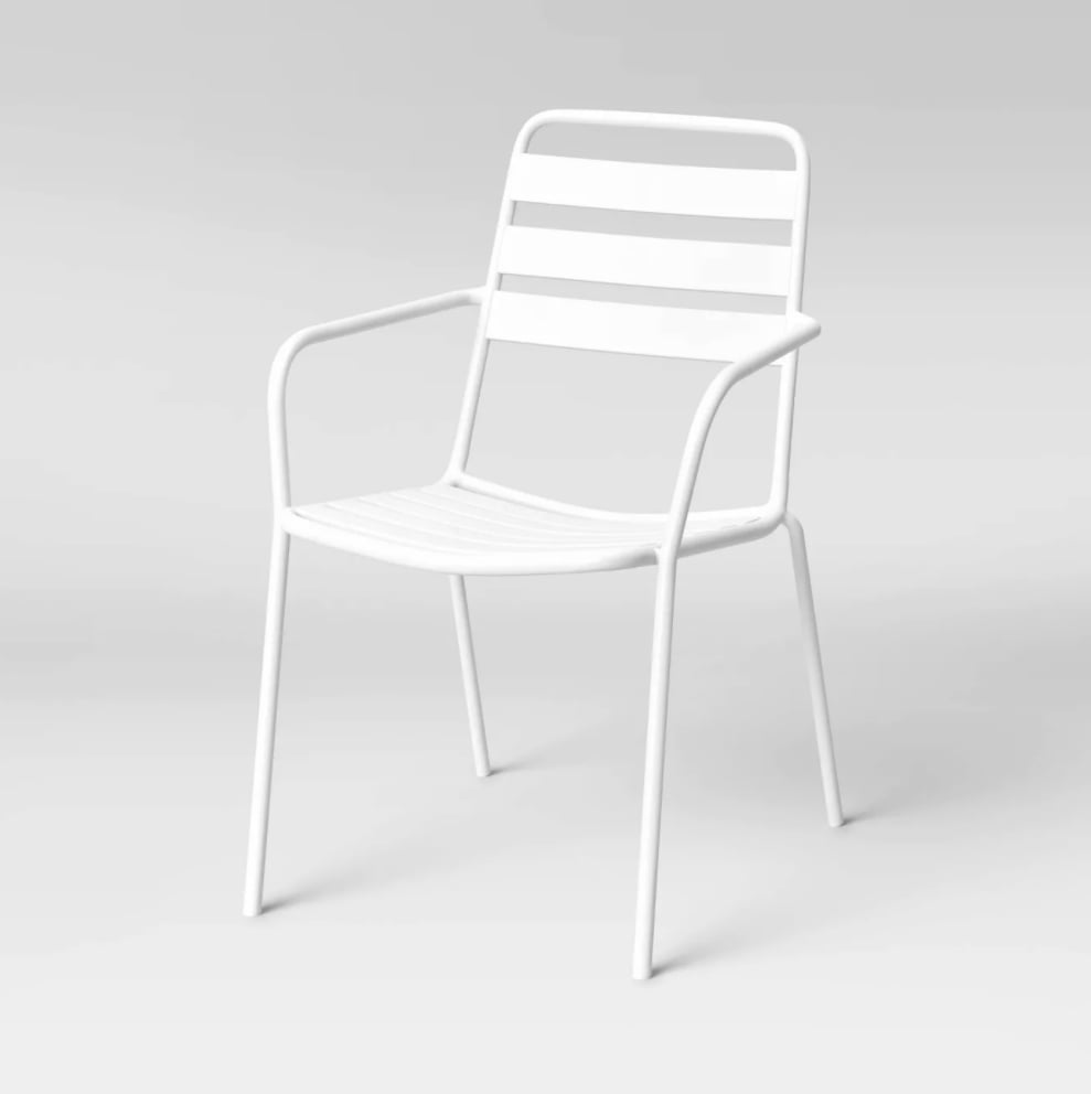 Room Essentials Metal Slat Stacking Patio Chair