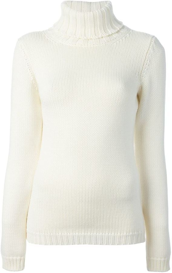 Zanone Ribbed Turtleneck Sweater