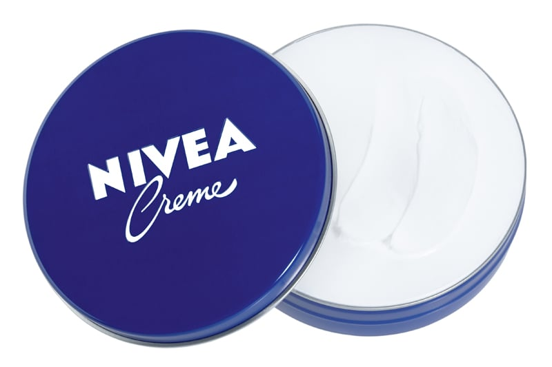 """Model Natalie Salamunec told us that her secret to great skin is actually Nivea Creme. """"It's the Nivea Creme, the really thick, hard-tub cream. It's a remedy from my mom. I take my makeup off with the cream, then I use an exfoliator, and then I put on more cream,"""" she explained. """"It really works!"""""""
