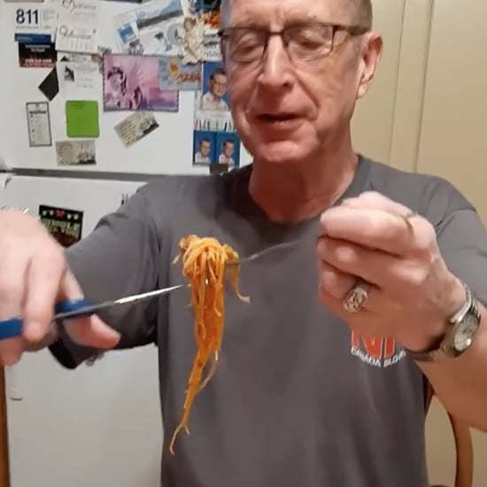 Dad's Hack For Eating Spaghetti With a Scissor