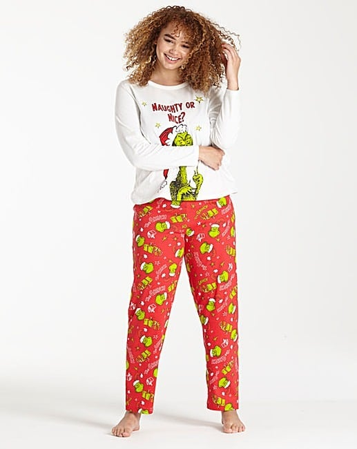 The Grinch Christmas Pyjama Set Christmas Pyjama Sets Popsugar