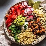 Vegetarian: Quinoa Taco Bowls With Guacamole