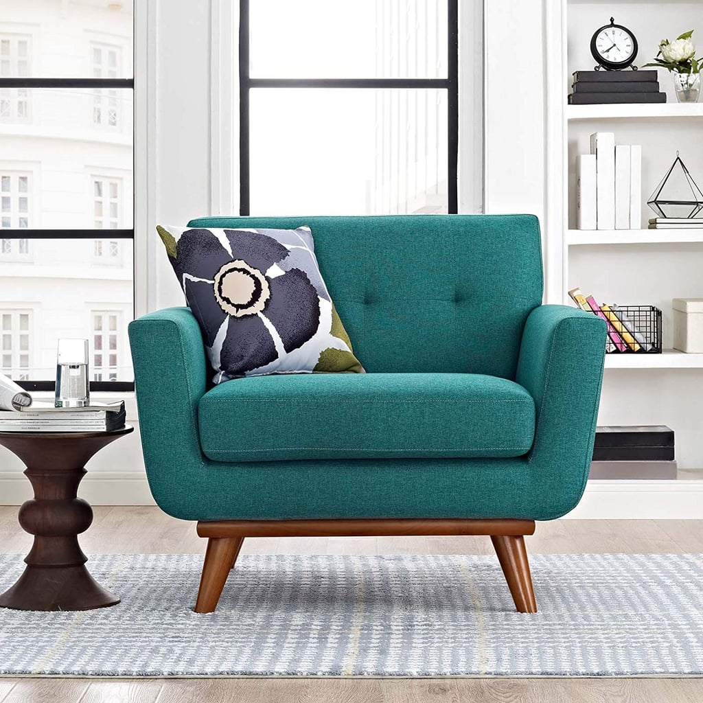 Modway Engage Mid Century Modern Upholstered Fabric Accent Chair Best Home Decor From Amazon Popsugar Home Australia Photo 16