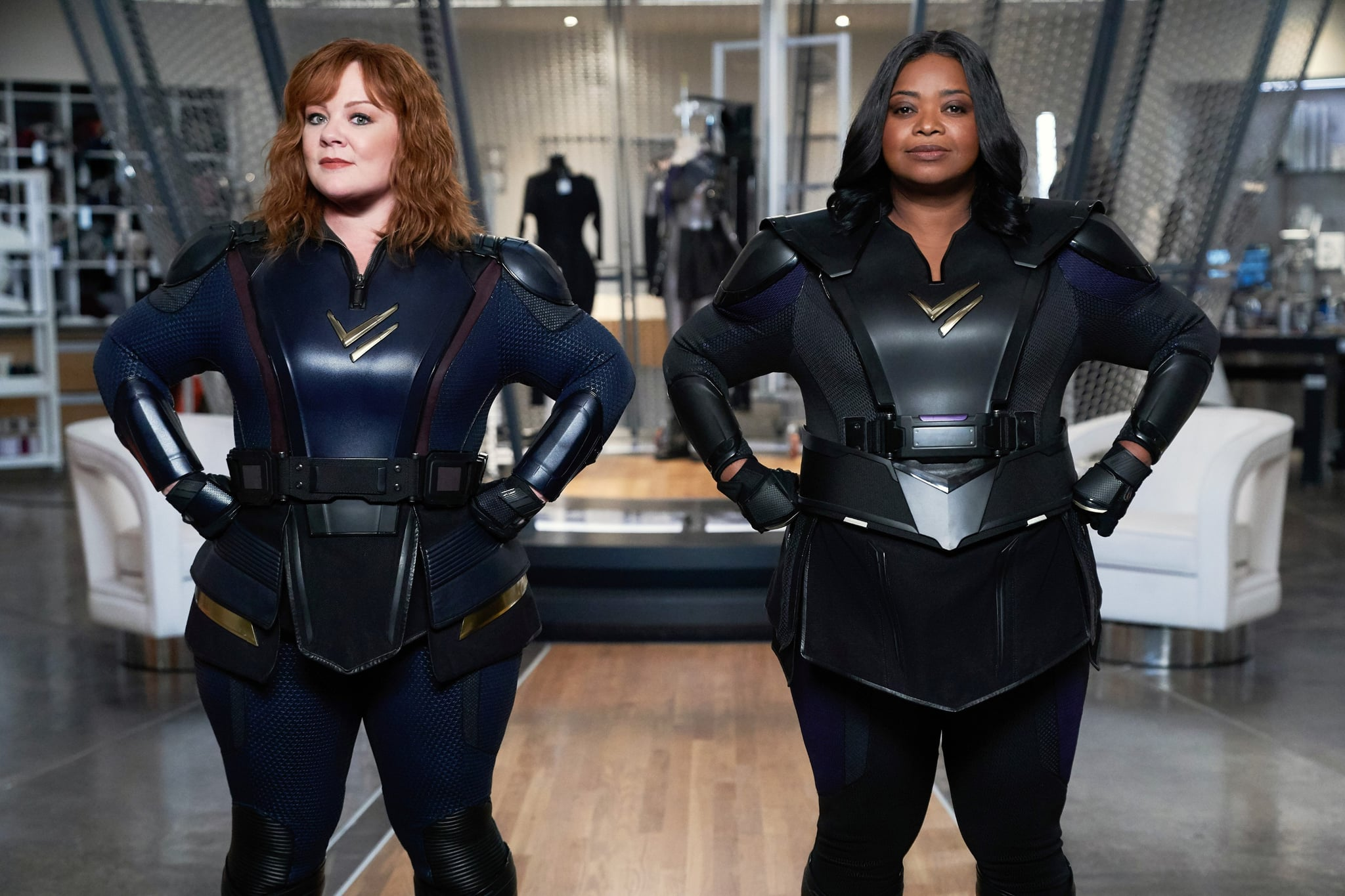 THUNDER FORCE, from left: Melissa McCarthy, Octavia Spencer, 2021. ph: Hopper Stone /  Netflix / Courtesy Everett Collection