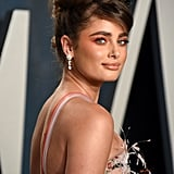 Taylor Hill's Twisted Topknot at the 2020 Vanity Fair Oscars Party