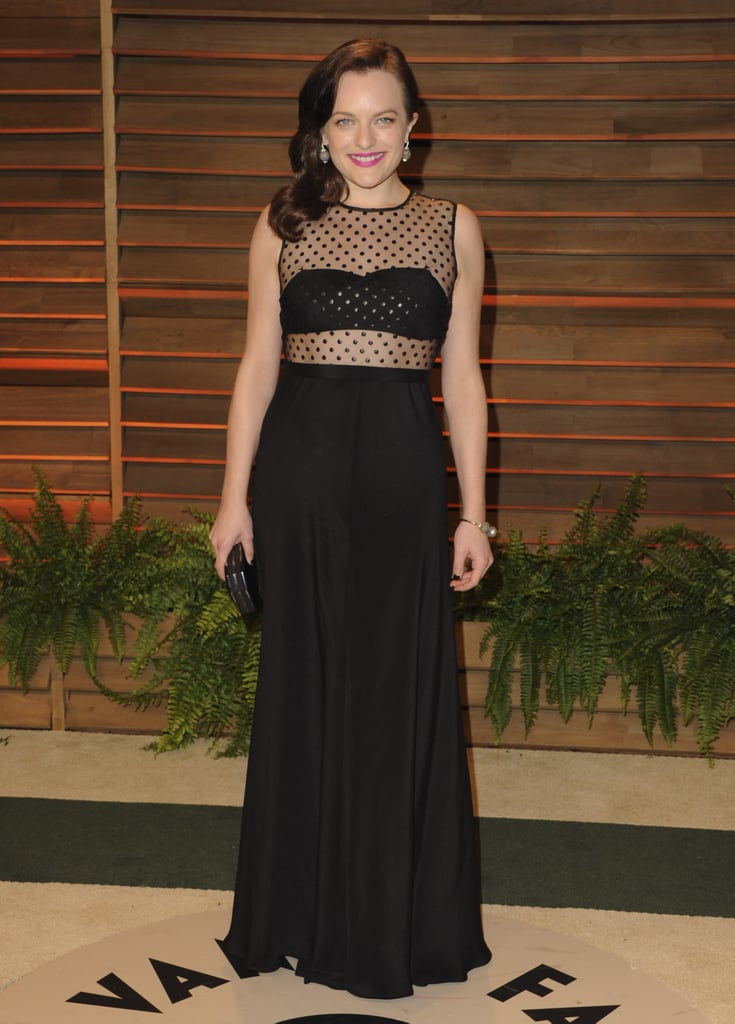 Elisabeth Moss went for a daring look.