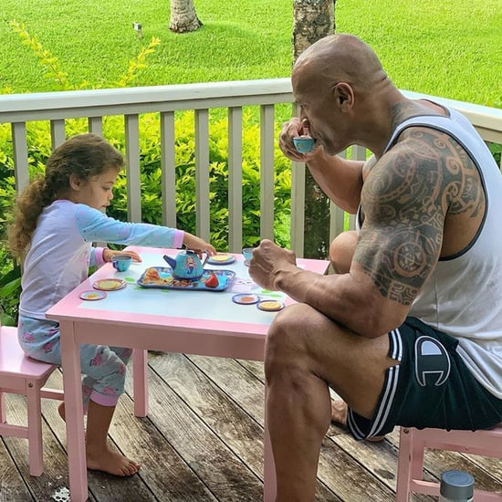 Dwayne Johnson Having a Tea Party With His Daughter Jasmine
