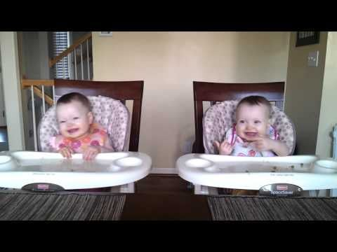 Baby Twins Enjoying Dad's Guitar Playing