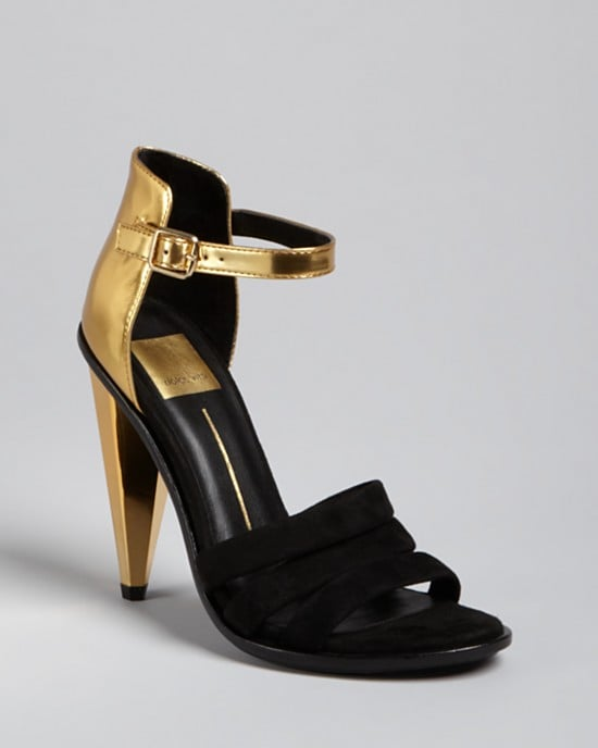 Ankle-straps get a holiday-perfect update with the gold-and-black contrast on these Dolce Vita Strappy Evening Sandals ($189).