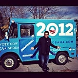George Lopez celebrated in front of an Obama-painted truck. Source: Instagram user georgelopez