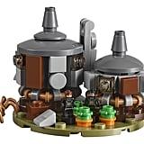 Hagrid's hut, complete with Aragog figure.
