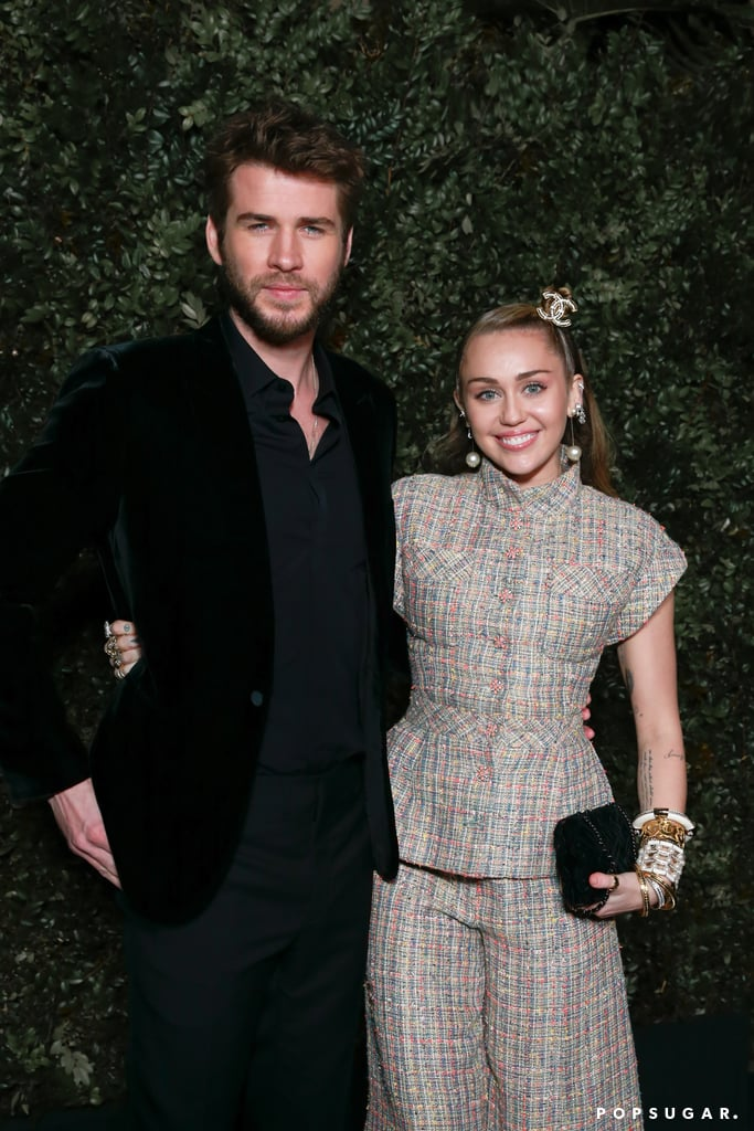Miley Cyrus and Liam Hemsworth stepped out for a glamorous date night on Saturday in celebration of the Oscars. The 26-year-old singer and 29-year-old actor attended the Chanel and Charles Finch preparty in Beverly Hills, CA, just one night ahead of the big show. They posed alongside each other, cuddling up and beaming at the cameras. While Miley rocked a multicolored tweed Chanel ensemble, Liam went for an all-black suit. Ever since their December wedding, Miley and Liam have been serving a number of looks during their public outings. In January, they made their official debut as husband and wife at the G'Day USA Gala, and the following month, Miley supported her beau at the premiere of his new movie, Isn't It Romantic. The newlyweds also recently celebrated their first Valentine's Day as a married couple and have continued to open up more about their relationship through interviews and plenty of cheeky comments on their social media posts. Their appearance at the Chanel Oscars preparty is just the latest example of their beautiful romance.       Related:                                                                                                           Liam Had the Cutest Reaction When He Found Out Miley Was Going to Take His Last Name