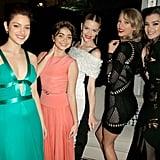 Odeya Rush, Taylor Swift, Sarah Hyland, Hailee Steinfeld, and Jaime King had a dance party.