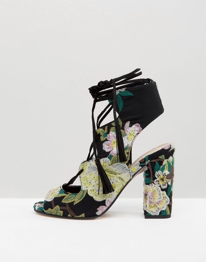 25cacc2973d ASOS Holiday Ghillie Tie Heeled Sandals