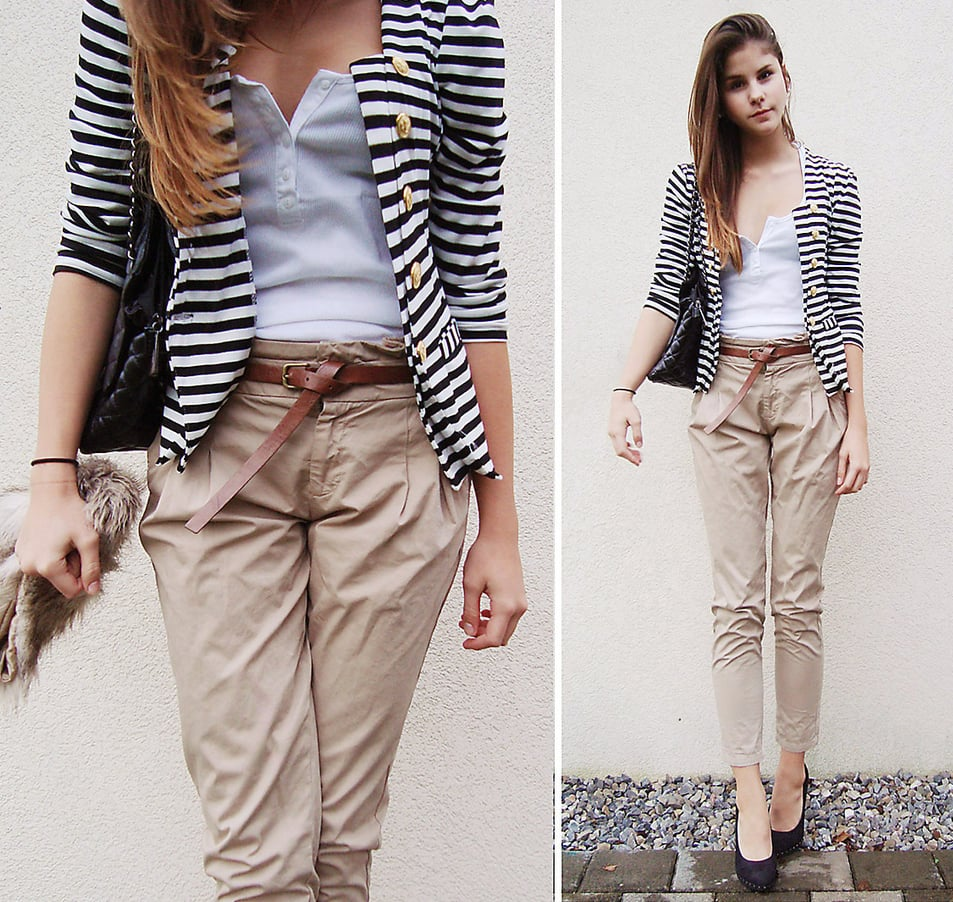 We'd wear this outfit for a casual day at the office — check out her cool belt tie.  Photo courtesy of lookbook.nu