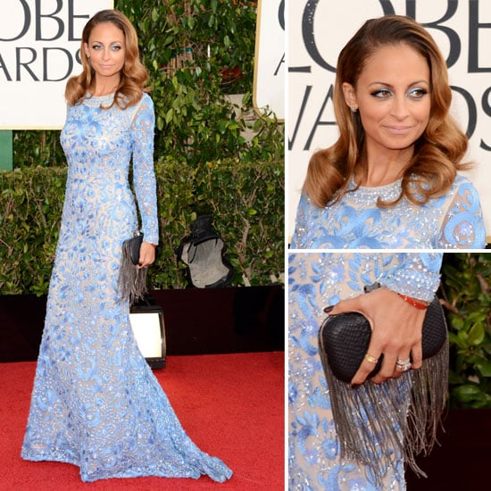 Pics of Nicole Richie in Naeem Khan 2013 Golden Globes