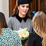 Kate Middleton and Queen Elizabeth II King College March