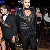 Adam Lambert completed his look with a bowtie.